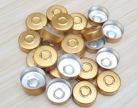 aluminium chemical - 20mm aluminium cap solid light gold color pharmaceutical aluminum caps flip off caps aluminium tops for crimp glass vial