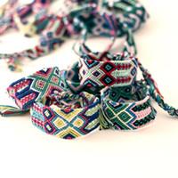 achat en gros de bracelets tissés ethniques-Bracelets de charme pour les femmes larges 2.8cm bracelets ethniques tissés à la main au Népal Amitié Bracelets