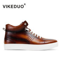 berluti shoes - VIKEDUO Mens fashion Low for Boots XXOA Patina shoes hand made shoes Genuine leather shoes exclusive design Second only To Berluti