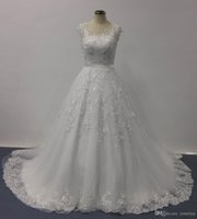 bellissima bridal - Bellissima Wedding Dresses Ball Gown Sheer V Neck Cap Sleeves Lace Ball Gown Appliqued Chapel Train Real Image Designer Bridal Gowns