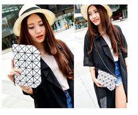 Wholesale 2016 New arrive laser female bag women Diamond Lattice shoulder bags lady clutch bags artwork pu leather chain handbags