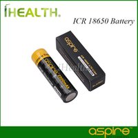 Wholesale Aspire ICR V Li ion High Discharge A A mAh mah Battery Li ion Rechargeable Battery for High Drain Devices Original