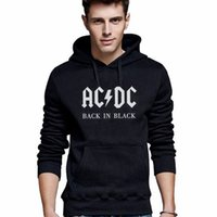 ac collars - Hoodies Sweatshirts Fashion Men Hoodies Male AC DC Casual Sportswear Autumn Outdoor Sports Outerwear Tracksuit Sweatshirt