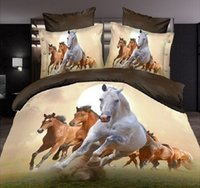 Wholesale Home Living D Horse Pattern Bedclothes Bedding Sheet Sets