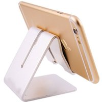 Wholesale Universal Cell Phone Tablet Desk Stand Holder For iPad Air Mini Aluminium Alloy Metal Smartphone Bracket for Samsung iPhone s