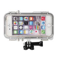 accessories mobile lens - Underwater Mobile Phone Waterproof Case Cover for iPhone6 s inch with wide angle lens like action camera for GoPro accessories