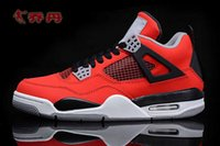 action sports shoes for men - 2016 hot high quality red Retro s basketball shoes aj4 outdoor sneaker low top athletic trainer action leather sports shoes for men free