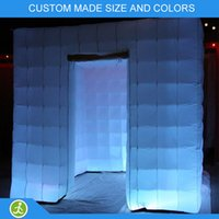 Wholesale wedding party event led changing colors inflatable photo booth case