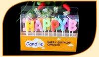 Feliz cumpleaños Art vela niños regalo mini velas Cumpleaños exótica atmósfera fuente de San Valentín 'día regalo decoratiions envío rápido JF-33