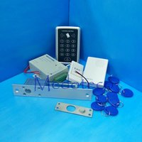 Wholesale Full Glass Door Security System Khz Rfid Card Door Access Control System Kit Electric Bolt Lock Power Supply Door Bell