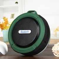 audio green plastic - 2016 Portable Waterproof Bluetooth Speaker Outdoor Wireless Stereo Speaker with Microphone Sucker Snap hook Army Green Black