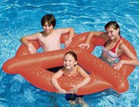 Wholesale 100pcs Inflatable Floats People Inch Gigantic Circle Donut Pool Toys Swimming Float Doughnut Swim Ring Summer Water Beach Toy