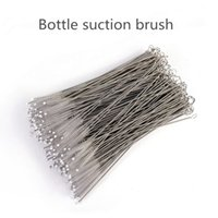 Wholesale Infant Feeding Baby Bottle Brush Nylon Clean Washing Brush Stainless Steel Kettle Cups Baby Suction Cup Cleaning Brush