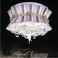 achat en gros de tissu rayé violet-Style Russe Stripe Restaurant Dôme Lumière Douce Chambre Violet Crystal Lumière Wave Point Etude Salle De Séjour Lampes Et Lanternes @ -9