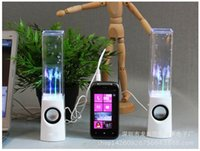 Wholesale Dancing Water Speaker Music Audio MM Player LED Light in USB Mini Colorful Water Drop Show Fountain Speakers ZD063B