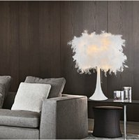 Wholesale Modern Fashion Feather Table Lamp Bedside Light Decoration Desk Lamp Creative Bar Hotel Table Lamp