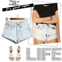 acid washed high waisted jeans - New Women High Waisted Shorts Acid Wash Elasticity Short Revers Denim Shorts jeans for Ladies Womens Female Feminino