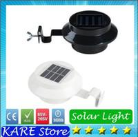 Wholesale 2016 New Sensor Solar Power LED Solar Light Led Fence Light lamp Outdoor Garden Sun Wall Corridor Lights Decoration Light bulbs