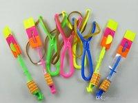 Wholesale 2016 LED flying arrow light slingshot Amazing colorful kids toys led flash toys children gift flashing Helicopter