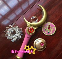 Wholesale Sailor Moon Queen Serenity Henshin Wand Stick Rod Handwork Cosplay Prop
