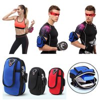 Wholesale Sports Running Jogging Gym Armband Arm Band Holder Bag For Mobile Phones Colors Retail Sales