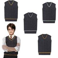 Wholesale New Harry Potter Gryffinder Slytherion Ravenclaw Hufflepuff Men Vest Cosplay Costume School Sweater
