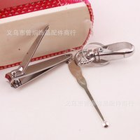 Wholesale stainless steel nail clippers large nail nails knife with locking ears to dig a yuan
