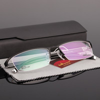 Wholesale Men s business temperament box frame wireframes eyebrow half box myopia presbyopic titanium alloy frame