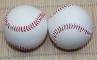 baseball practice balls - 2 Piece Leather New White Base Ball Baseball Practice Trainning Softball Sport Team Game ball mirror