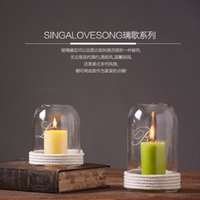 Wholesale Top Quality Northern Europe Style Glass Candle Holder In Two Size Handicraft Furnishing Articles Home Décor