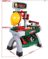 Wholesale tool kit for children Play cozinha de brinquedo Pretend plastic tool truck toy higiene eletrodomestico para power tools workshop