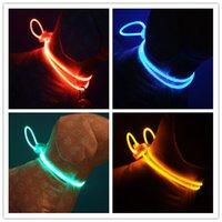 band basic - Multicolor LED fiber optic light dog flash collar DOG LEASHES pet decorative band CM