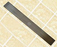 Wholesale stainless steel cm linear anti odor floor drain bathroom hardware mm invisible shower floor drain DR055