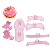Wholesale 7Pcs Lady Shoes Cake Mould Mold Modle Baking Kit Candy Decor Pastry Tool Set Hot T701
