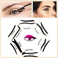 Wholesale 6 in eyeliner Multifunction Eye Stencil Cat Eyeliner Stencil For Eye Liner Template Card Fish Tail Double Wing Eyeliner Stencil DHL