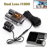Wholesale Dual Lens Camcorder i1000 Car DVR Dual Camera HD P Dash Cam Black Box With Rear Cam Vehicle View Dashboard Cameras