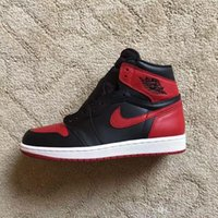 Wholesale Newest Air Jordan Retro basketball shoes High Og Banned Bred Jordans Sneakers size