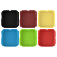 Wholesale New Soft Eco Friendly Pocket Round Shatterproof Cigar Rubber Silicone Ashtray Ash cm Cinzeiro Smokeless