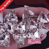 big pack glass - Top Quality Big Size pack mm Tri angle Pointback Sew on Glass Crystal Rhinestones Crystal Clear Sewing on stone Y1065