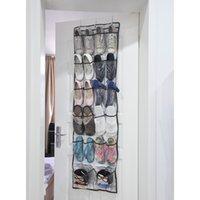 Wholesale 22 Pockets Clear Over Door hanging storage pockets Baseroom Living Room Storage Bag Shoe Rack Hanger Storage Tidy Organizer