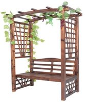 Wholesale Outdoor Furniture Wooden Garden Pergola Arches with Chair