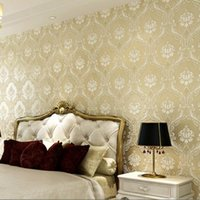 big flower wallpaper - European non woven wallpaper embossed wallpaper stereoscopic D classic big flower living room bedroom wallpaper backdrop