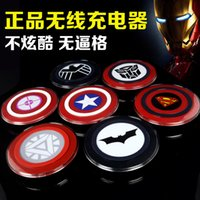 america base - Captain America iron man wireless charger pad charger charging for Apple android samsung S6 wireless phone charger base