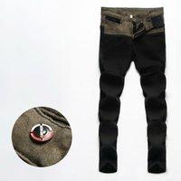 Wholesale Male Black Jeans New Pattern Denim Overalls For Men Middle Waisted Skinny Jeans Men s Black Jeans