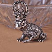 animals amphibians - Crown Toad Moon King Brooches Amphibians Broches Hat Accessories Scarf Clip Party Shoulder Decoration Vintage Antique Silver uk
