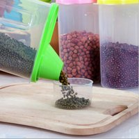 Wholesale new kitchen tools cereal storage box food grade plastic food containers kitchen dry dried food grains container canister