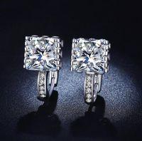 best hoop earings - White Gold Plated Fashion Wedding Hoop Earring Jewelry Earings Engagement Earrings for Women Best Gift MSE016