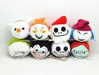 Wholesale New Tsum Tsum Plush Toy Doll The Nightmare Before Christmas Jack Sally Zero Santa Jack Skellington SHOCK Barrel Scary Vampire