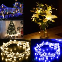 Wholesale 1 W V Battery Operated M LEDs Copper Wire LED String Shop Display Windows Xmas Holiday Wedding Party Colorful Decoration Light