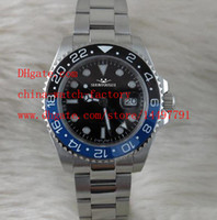 automatic gmt - Luxury Ceramic Bezel GMT II mm LN blnr Blue Luminescent Dial Automatic Mens Watch Men s Watches